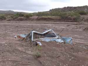 Driving along Andes river beds might not be always a good idea...Bed load transport can be seriosuly dangerous after heavy storms.
