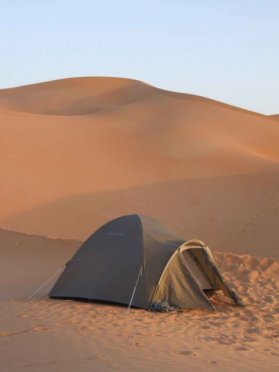 Our desert tent in Libya