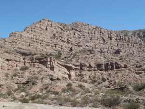 Stacked fluvial and aeolian rocks accumulated 15 millions of years ago at the foothills of the Andes (Argentina)